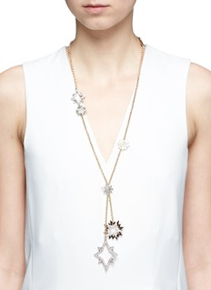 Lulu Frost'Nova' asymmetric star pavé necklace