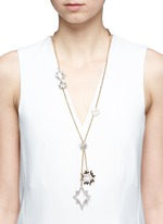 'Nova' asymmetric star pavé necklace