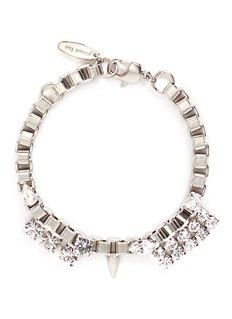 Joomi Lim'Organized Chaos' Swarovski crystal box chain bracelet