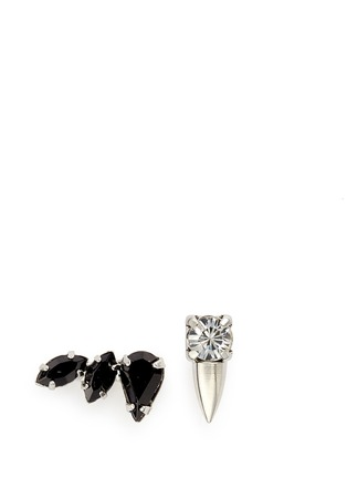 Main View - Click To Enlarge - Joomi Lim - 'Organized Chaos' asymmetric Swarovski crystal earrings