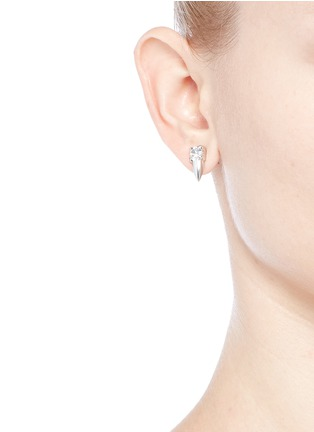 Figure View - Click To Enlarge - Joomi Lim - 'Organized Chaos' asymmetric Swarovski crystal earrings