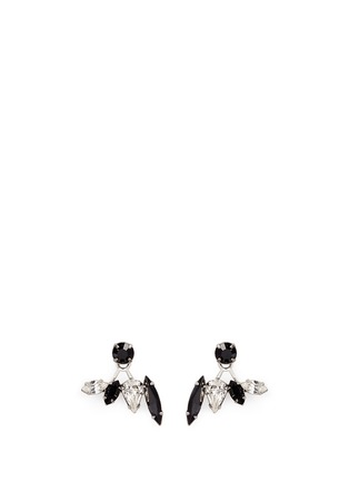 Main View - Click To Enlarge - Joomi Lim - 'Organized Chaos' Swarovski crystal jacket earrings