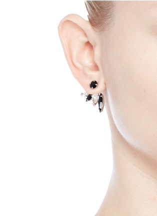 Figure View - Click To Enlarge - Joomi Lim - 'Organized Chaos' Swarovski crystal jacket earrings