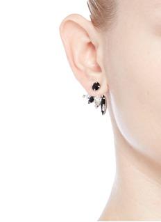 Joomi Lim'Organized Chaos' Swarovski crystal jacket earrings