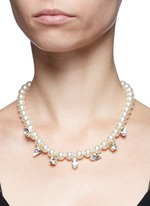 'Screw U' Swarovski crystal pearl necklace