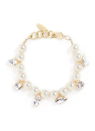 Main View - Click To Enlarge - Joomi Lim - 'Screw U' Swarovski crystal faux pearl bracelet