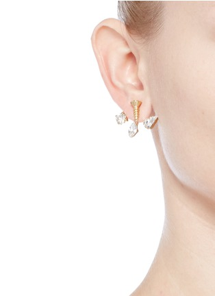 Figure View - Click To Enlarge - Joomi Lim - 'Screw U' Swarovski pearl jacket earrings