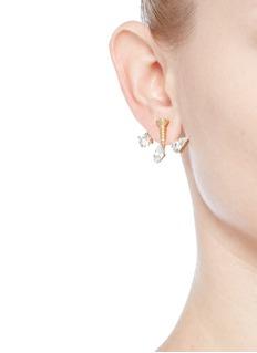 Joomi Lim'Screw U' Swarovski pearl jacket earrings