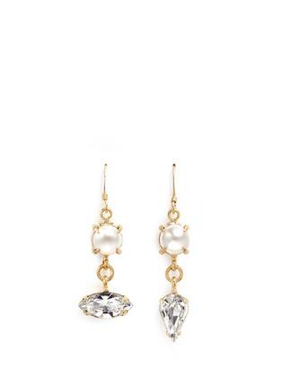 Main View - Click To Enlarge - Joomi Lim - 'Screw U' Swarovski pearl earrings