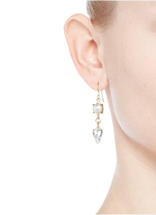 Figure View - Click To Enlarge - Joomi Lim - 'Screw U' Swarovski pearl earrings