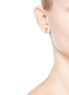 Joomi Lim'Screw U' asymmetric Swarovski pearl stud earrings