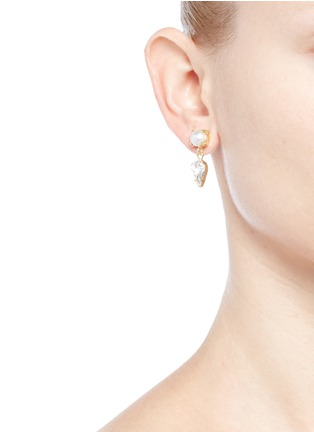 Joomi Lim - 'Screw U' asymmetric Swarovski pearl drop earrings