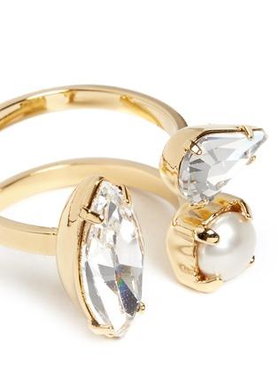 Detail View - Click To Enlarge - Joomi Lim - 'Screw U' Swarovski crystal pearl ring