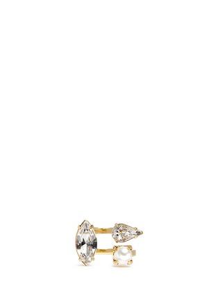 Main View - Click To Enlarge - Joomi Lim - 'Screw U' Swarovski crystal pearl ring