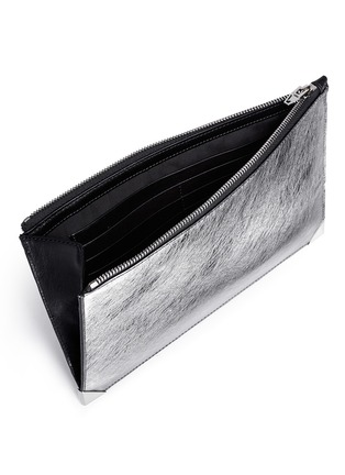 Detail View - Click To Enlarge - Alexander Wang  - 'Prisma' bicolour leather flat pouch