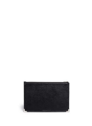 Back View - Click To Enlarge - Alexander Wang  - 'Prisma' bicolour leather flat pouch