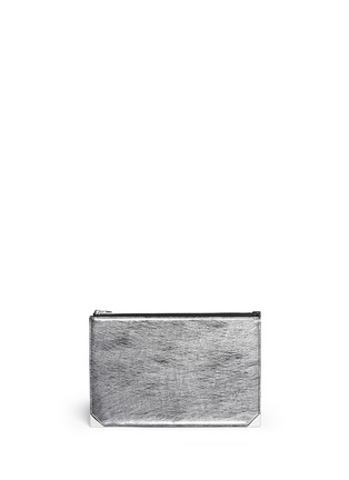 Main View - Click To Enlarge - Alexander Wang  - 'Prisma' bicolour leather flat pouch