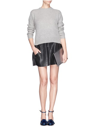 Figure View - Click To Enlarge - Alexander Wang  - 'Prisma' bicolour leather flat pouch