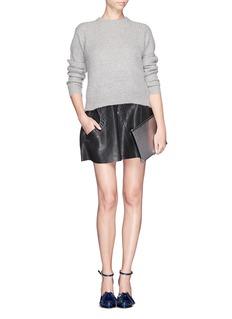 ALEXANDER WANG 'Prisma' bicolour leather flat pouch