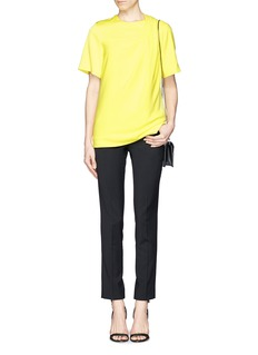 ALEXANDER WANG  Pleat shoulder crepe top