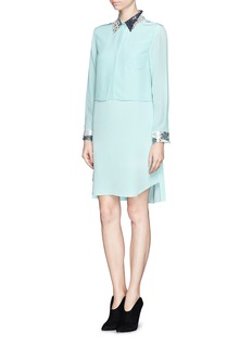 3.1 PHILLIP LIM Sequin collar silk shirt dress