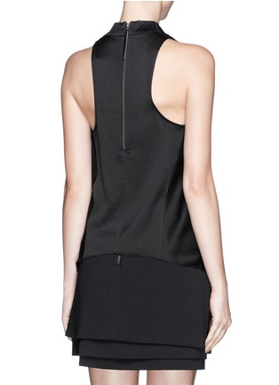 Back View - Click To Enlarge - Helmut Lang - Cowl neck cloqué sleeveless top