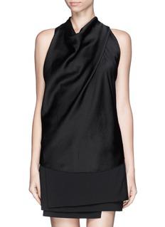 HELMUT LANGCowl neck cloqué sleeveless top