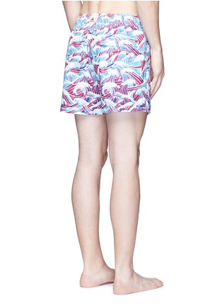 Back View - Click To Enlarge - Māzŭ - 'South China Sea' wave print swim shorts