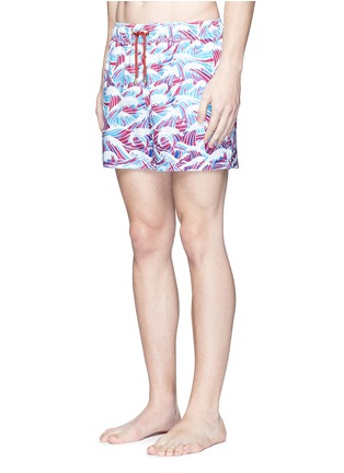 Figure View - Click To Enlarge - Māzŭ - 'South China Sea' wave print swim shorts