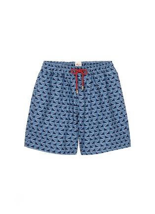 Main View - Click To Enlarge - Māzŭ - 'Qing Dynasty' triangle print swim shorts