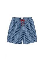 'Qing Dynasty' triangle print swim shorts