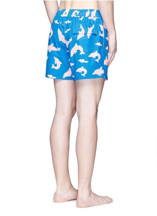 Back View - Click To Enlarge - Māzŭ - 'Ringo' dolphin print swim shorts