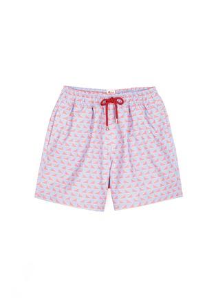 Main View - Click To Enlarge - Māzŭ - 'Ming Dynasty' triangle print swim shorts