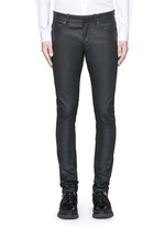 Slim fit coated denim jeans