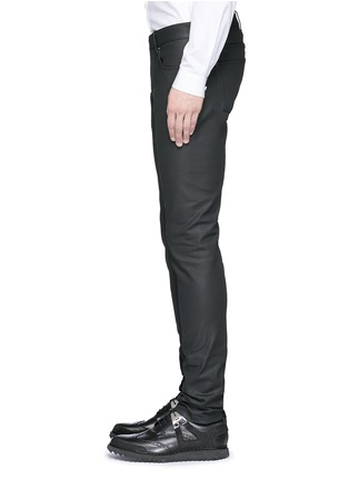 Detail View - Click To Enlarge - Balenciaga - Slim fit coated denim jeans