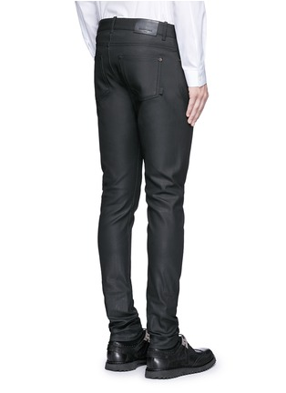 Back View - Click To Enlarge - Balenciaga - Slim fit coated denim jeans