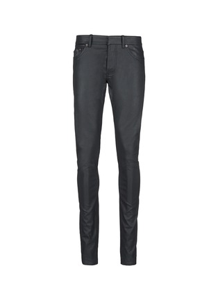 Main View - Click To Enlarge - Balenciaga - Slim fit coated denim jeans