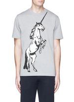 Unicorn print cotton T-shirt
