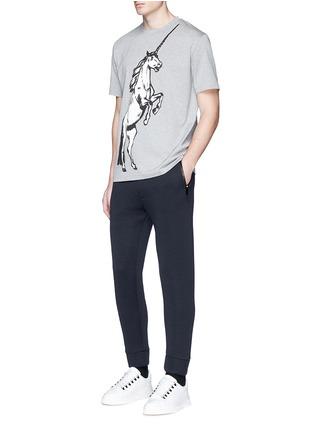 模特儿示范图 - 点击放大 - BALENCIAGA - 独角兽图案纯棉T恤