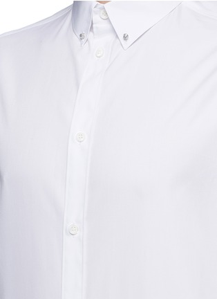 Detail View - Click To Enlarge - Balenciaga - Stud collar cotton shirt