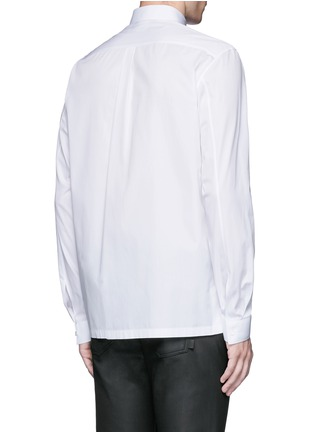 Back View - Click To Enlarge - Balenciaga - Stud collar cotton shirt
