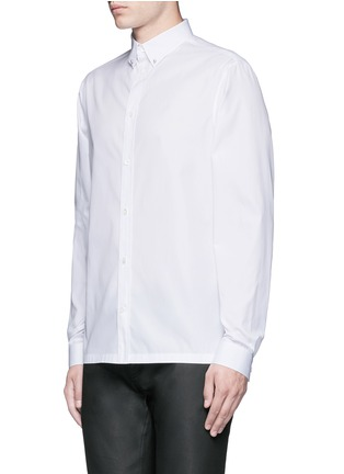 Front View - Click To Enlarge - Balenciaga - Stud collar cotton shirt