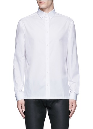 Main View - Click To Enlarge - Balenciaga - Stud collar cotton shirt