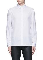 Stud collar cotton shirt