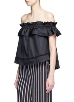 'Sofia' ruffle poplin off-shoulder top