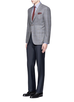 Figure View - Click To Enlarge - Canali - Water-resistant wool pants