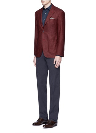 Figure View - Click To Enlarge - Canali - Regular fit stretch cotton chinos