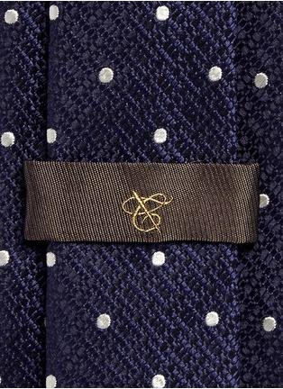 Detail View - Click To Enlarge - Canali - Dot silk tie