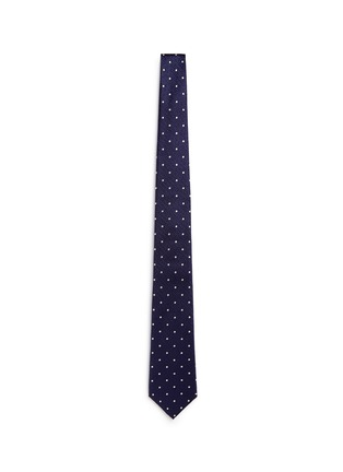 Main View - Click To Enlarge - Canali - Dot silk tie
