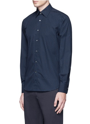 Canali - Slim fit paisley print cotton shirt